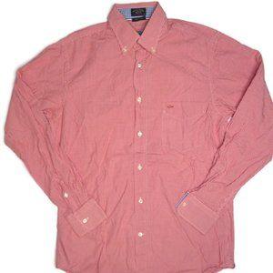 Paul & Shark Button Down Shirt Mens Sz 40 Gingham